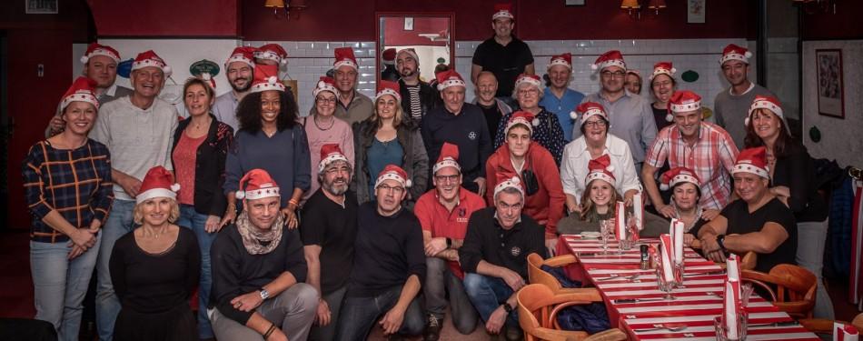 Repas de Noël 2019 avec une partie de l'équipe de Paramoteur Poitou-Charentes
