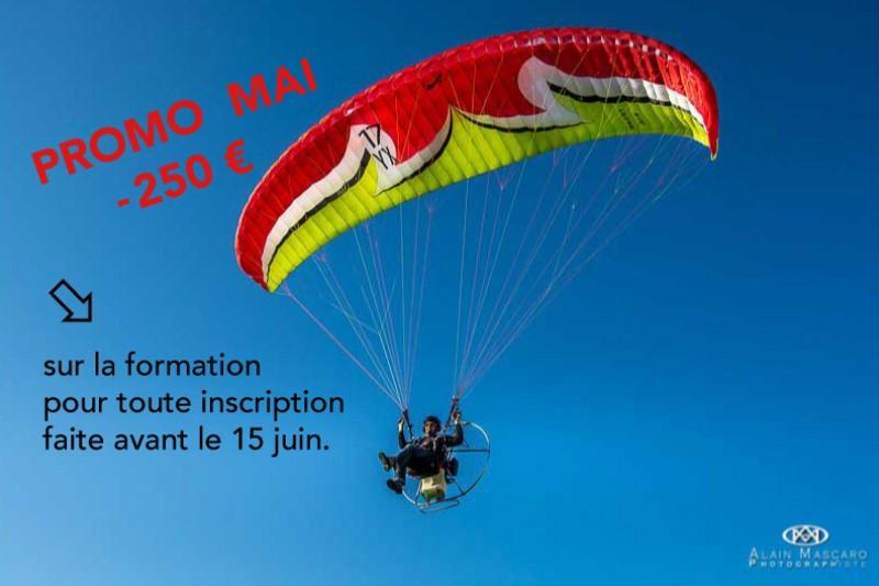Formation au brevet de pilote décollage à pied